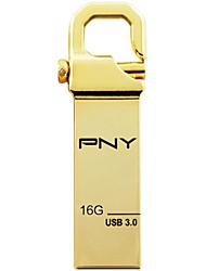 PNY 16GB USB 3.0 Flash Drive Metal Style Local Tyrants Gold HOOK Attache 3.0