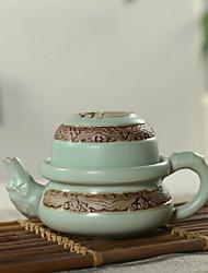 juego de té de porcelana kungfu chino, 1 pc tetera, 1 pc taza de té