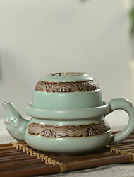 kungfu cinese porcellana tea set, 1 pc teiera, 1 pc tazza di tè