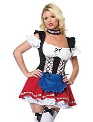 сексуальная германия Октоберфест горничной красочный терилена костюм hallewoon