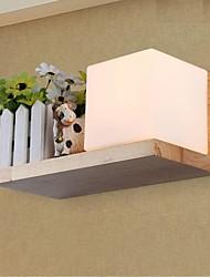 lâmpada de parede de carvalho, uma luz, carvalho e vidro, 220 ~ 240V (jy945r)