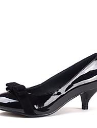 zapatos de mujer de tacón bombas cerrado de los pies con zapatos gatito del bowknot más colores disponibles