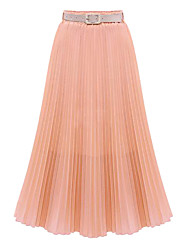 Women's High Waist Pleated Mopping The Floor Chiffon Skirt