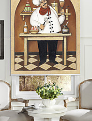 Oil Painting Style Cartoon Desserts Chef Roller Shade