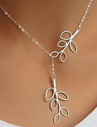 Silver / White Pendant Necklaces Party / Daily / Casual Jewelry Leaf Pendant Necklace Clavicle Chain For Women Jewelry