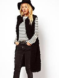 XT Mid Long Fur Waistcoat_20 (Black)