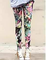 Women's Fashion Colar Alphabet Pattern Leggings