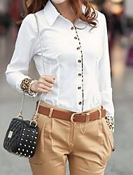 leopardo de impresión de la camiseta de las mujeres