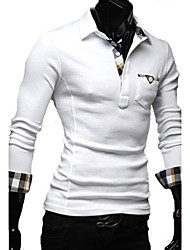 Check Long Sleeve Polo Shirt