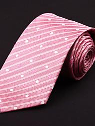 Pink&White Silk Tie
