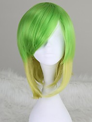 Vocaloid Megpoid Gumi Short Straight Ombre Green Anime Cosplay Wig