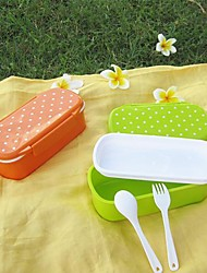 Candy Color Single layer Lovely Dot Style Lunch Box (Random Color)