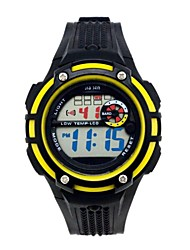 Children's Round Dial PU Band Outdoor Sports Multifunction LED Wrist Watch 30m Waterproof (Assorted Colors)