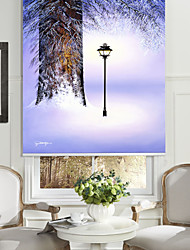 Oil Painting Style Realistic Tree Light Roller Shade