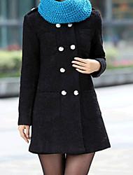 Yinbo Women's Mid-Long Tweed Coat