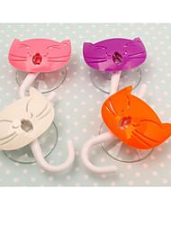"""gattino disegno multifunzionale gancio decorativo, w5.6 xl6.4 """", set di 2, colore casuale"""