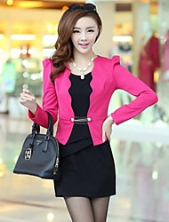 Women's Fashion OL Candy Color Slim Suits (Blazer&Mini Skirt)