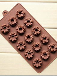 15 Hole Crown Castle Shape Cake Ice Jelly Chocolate Molds,Silicone 22×11×2 CM(8.7×4.3×0.8 INCH)