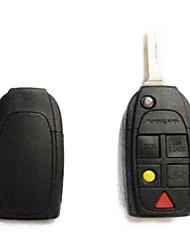 5-Button Remote Flip Key Case for Volvo