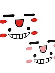 adesivi specchietto retrovisore volto sorridente personaggio riflettente auto (2pc)