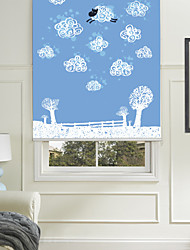 Plain Cartoon Style Flying Sheep Roller Shade