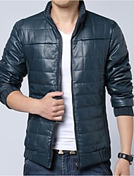 chaqueta de manga larga de cuello de solapa de los hombres casuales