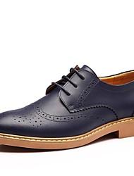 Herren Schuhe Leder Frühling Sommer Herbst Winter Komfort Outdoor Schnürsenkel Für Normal Schwarz Braun Blau Gelb