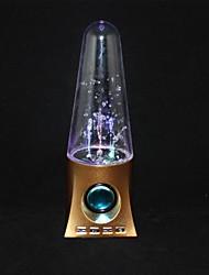 alto-falantes de cartão de águas dançantes LED RGB luz tf fm usb aux de áudio do telefone do computador (cores sortidas)