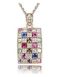 moda colorido colar de diamantes das mulheres da margarida