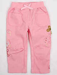 Girl's Pink Pants Cotton Winter / Spring / Fall