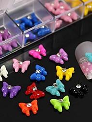 100pcs mix de acessórios de resina cor bowknot não incluem caixa 3d nail art decoração