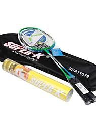 Super k Stahlfederballschläger-Set (2 Schläger + 12 Nylon-Federbälle)