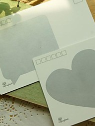 Postcard Sticker Peach Heart Pattern Secret Surprised Paintcoat(20 PCS)