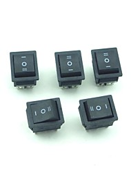 250V 10A Ship Style 6Pin 3Mode Rocker Switch 5 PCS