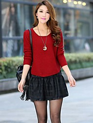 Women's Fashion Was Thin Piece Really Loose Knit Sweaters