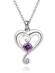 Cremation Jewelry 925 sterling silver Creative Heart with Colorful Zircon Pendant Necklace for Women