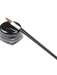 New Hot Black Waterproof Eye Liner Eyeliner Shadow Gel Makeup Cosmetic + Brush