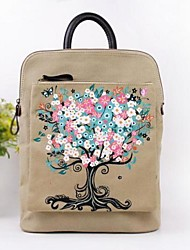 Women's Fashion casual hand-painted canvas shoulder bag backpack