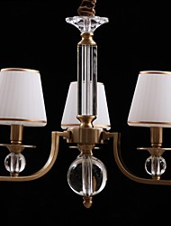 40w Modern/Contemporary Crystal Bronze Metal Chandeliers Bedroom / Dining Room