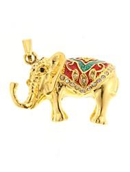 zp padrão elefante dourado 64gb usb flash drive estilo de metal do diamante de Bling