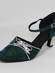 Customizable Women's Dance Shoes Modern Synthetic Customized Heel Green
