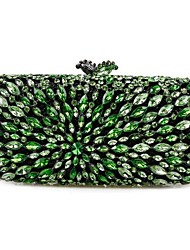 Women PU Event/Party Evening Bag Green / Black / Multi-color