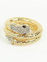 serpente de liga perfurado com pulseiras de strass das mulheres