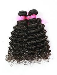 24inch 1Pcs/Set Great 6A Natural Black 100% Brazilian Virgin Human Hair Deep Curly Hair Weave