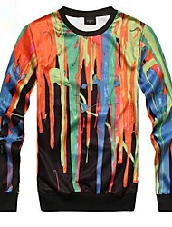 Men's Fashion Print Colourful 3D Sweatshirt