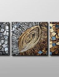 Handgemalte AbstraktKlassisch Drei Paneele Leinwand Hang-Ölgemälde For Haus Dekoration