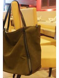 neue Portierung der Frauen moderne Kontrastfarbe PU-Leder Trage 40 * 32 * 10cm