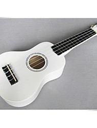 "21"" Linden Wood Soprano Ukulele(White) UK-21"