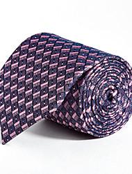 9 CM Wide Pink&Purple Silk Tie