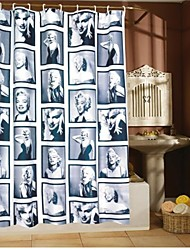 Vina® Water-proof Marilyn Monroe Bath Shower Curtain With 12 Hooks